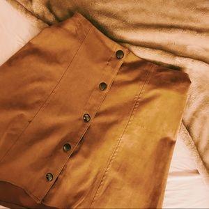 Dresses & Skirts - Tan Suede Skirt